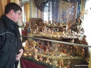 Weihnachtskrippe im Pforzheimer Restaurant Al Bacio