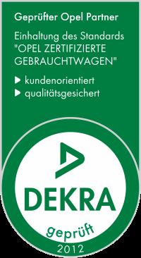 "DEKRA-Siegel 2012 ""Opel zertifizierte Gebrauchtwagen"""