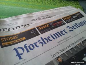 Annonce Opel ADAM in der Pforzheimer Zeitung vom 5. Januar 2013