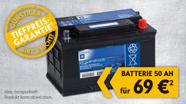 OSKO Batterie 50 AH bis 31.01.2013