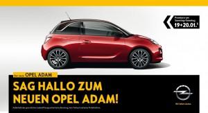 Einladung zur Opel-Adam-Premiere