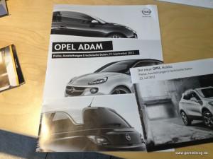 Preisheft zum Opel Adam