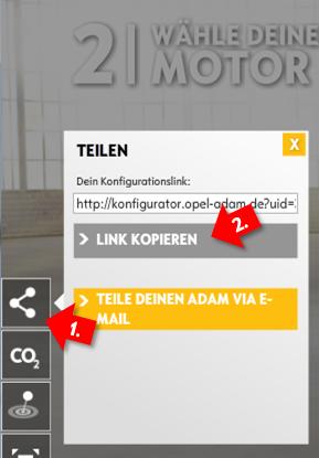 "Adam-Konfigurator - ""Teilen""-Funktion"