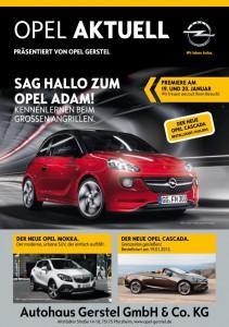 Titelblatt der Opel Aktuell 01 2013