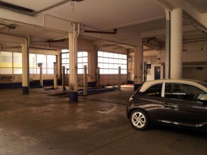 """Erste Ansicht vom """"Werk 2"""" des Autohaus Gerstel"""