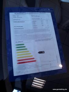 Opel ADAM GLAM Umweltangaben