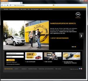 myOpel.de Startseite
