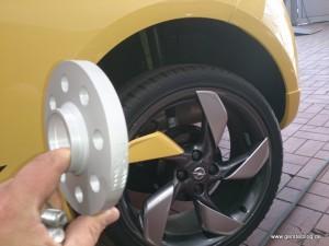 Breitere Radnabe für eine Spurverbreiterung
