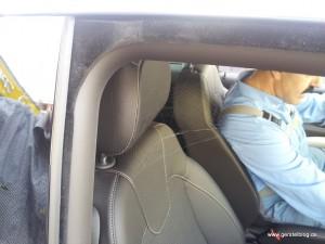 Spinnennetz in einem Vorführwagen