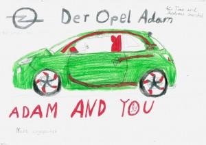 Ein gemalter Opel ADAM