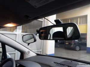 Fahrschulauto, zusätzlicher Innenspiegel