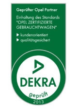 "DEKRA-Siegel 2013 ""Opel zertifizierte Gebrauchtwagen"""