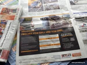 Gerstel-Zeitungsannonce in der Pforzheimer Zeitung
