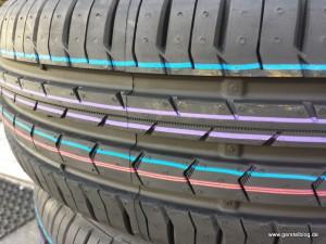 Farbringe auf neuen Reifen