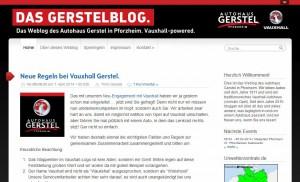Gerstelblog im Vauxhall-Look als Aprilscherz 2014