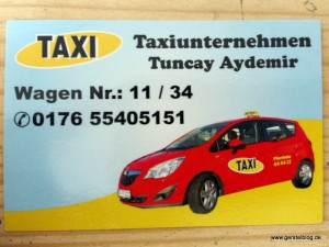 """""""Unser"""" Meriva-Taxi"""