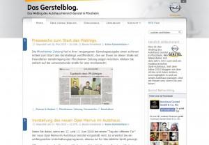 Screenshot Gerstelblog im Jahr 2010