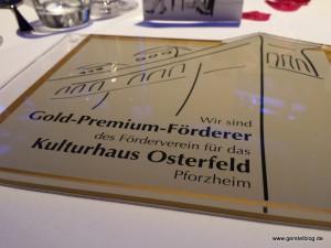 Förderer-Plakette des Kulturhaus Osterfeld