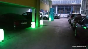 Lichterstimmung zum Autohauskino