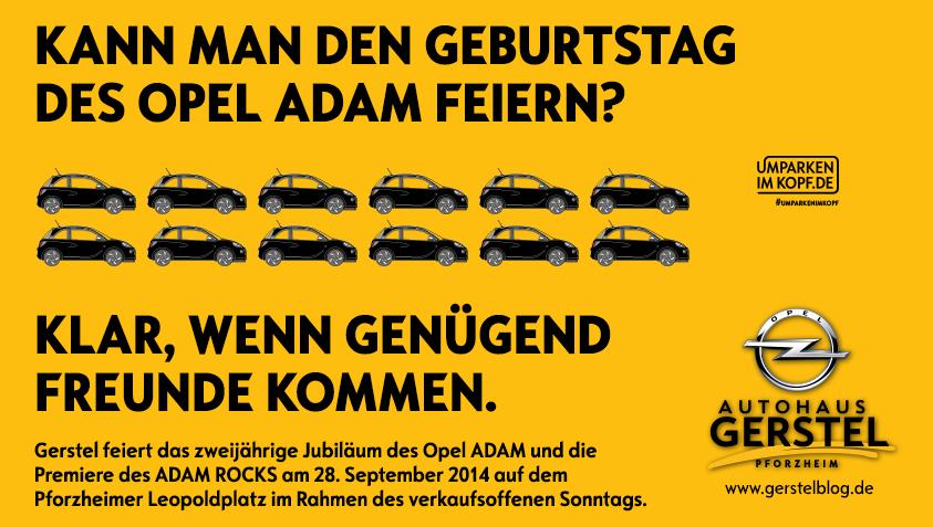 Kann man den Geburtstag des Opel ADAM feiern?