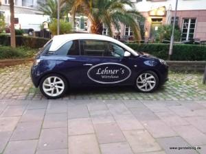Opel ADAM des Lehner's Wirtshaus Pforzheim