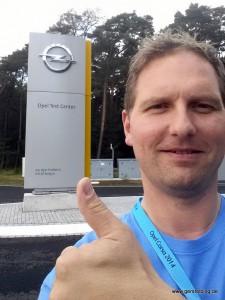 Andreas am Opel-Testgelände in Dudenhofen