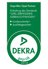"DEKRA-Siegel 2014 ""Opel zertifizierte Gebrauchtwagen"""