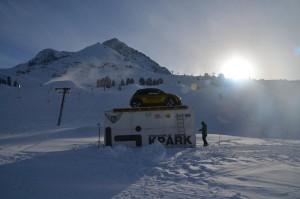 Opel ADAM auf der Skipiste in Kühtai