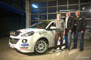 Opel ADAM Cup von Knapp Motorsport mit Michael Knapp, Timo und Andreas Gerstel