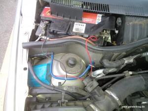 Unzulässige Direktverkabelung eines Verbrauchers an die Autobatterie