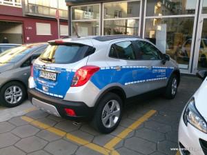 City-Streife im Opel Mokka