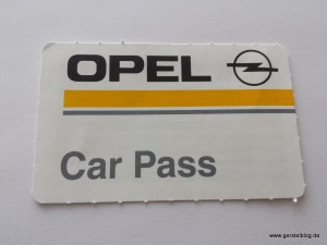 Opel Car Pass