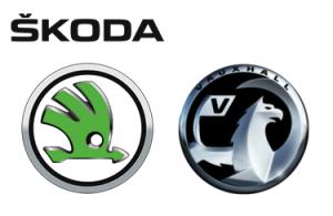 Logo Skoda und Vauxhall