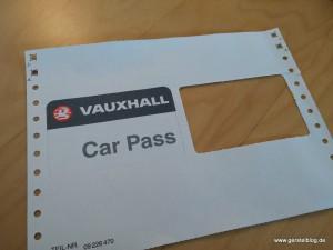 Vauxhall Car Pass