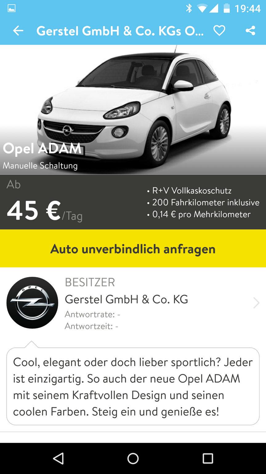 Gerstel bei CarUnity mit einem Opel ADAM