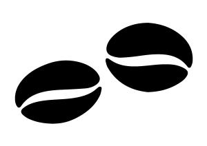 Stilisierte Kaffeebohnen