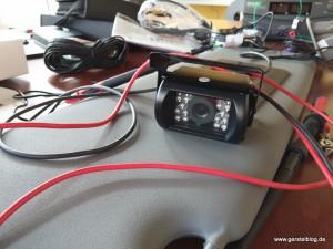 Testlabor einer Rückfahrkamera für einen Opel Movano