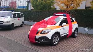 Übergabe eines Opel Mokka als HvO-Fahrzeug an das DRK in Keltern