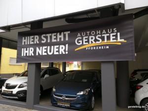 Neue Werbeplane am Deutschen Eck