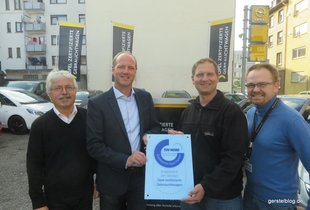 OZG-Zertifikatsübergabe 2015 im Autohaus Gerstel