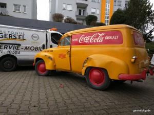 Opel Olympia Kastenwagen mit historischer Coca-Cola-Bemalung