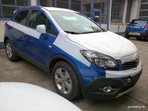 Transportschutz bei einem Opel Mokka