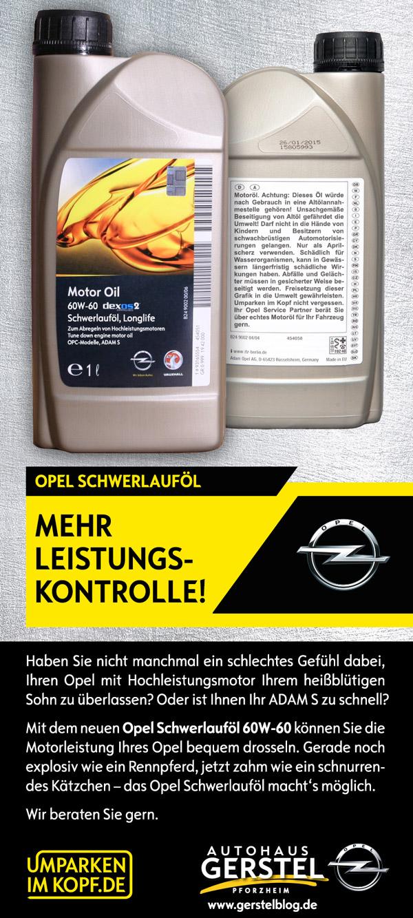 Opel Schwerlauföl