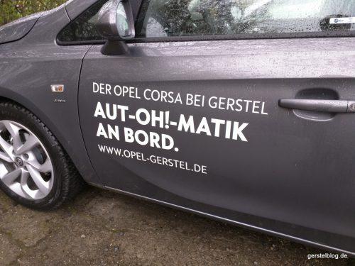 "Opel Corsa ""Aut-OH!-matik an Bord."""