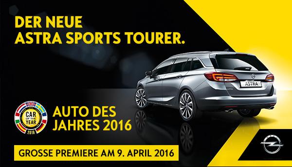 Premiere Astra Sports Tourer am 9. April 2016