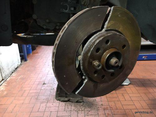 Verschliessene Bremsscheibe