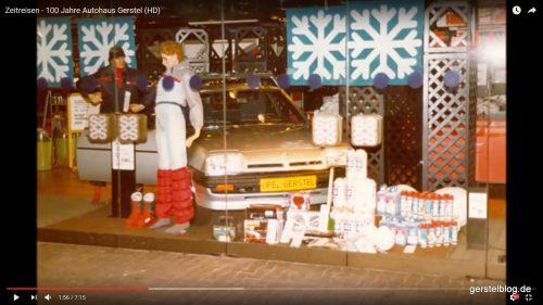 Der Opel Manta im Kaufhaus Schneider