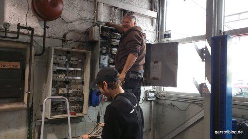 Elektroinstallation im Werkstattgebäude