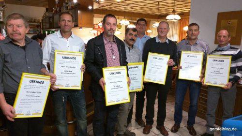 Von link: Hubert Gaide, Uli Bischoff, Jürgen Vischer, Nuri Kurt, Timo Gerstel, Roland Blödt, Markus Peketitsch, Harald Rudolf